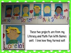First Week of School,  Literacy Fun with Names ~ Year Long Plan, and Back 2 school purchases