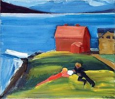 Folk í landslagi - Louisa Matthiasdottir