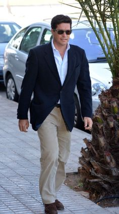 The Spanish architect Carlos Morales, husband of Princess Alexia of Greece attends Court in Lanzarote, Spain on 18 Jan 2013