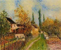 Path at Sablons - Alfred Sisley