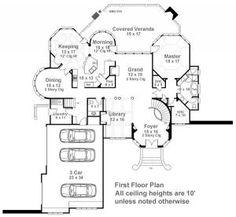 Hennessey Courtyard   Luxury Floor Plan   4000 Sq Ft House Plan