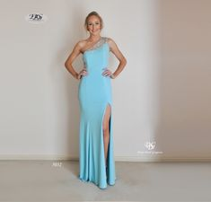 Asymmetrical Sparkle Detail Evening Gown in Ice Blue Style 5032 Sizes 16 by Miracle Agency Formal Evening Dresses, Evening Gowns, Bridal And Formal, Blue Style, Designer Gowns, Blue Fashion, Formal Wear, Party Wear, Sparkle