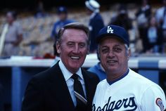Legendary Dodger men: Vin Scully & Tommy Lasorda.