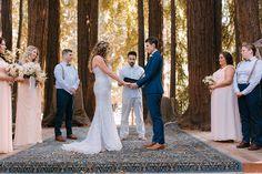 Rustic redwoods wedding as seen on @offbeatbride