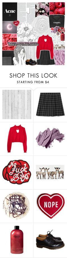 """""""[❤️] follow me"""" by korekara ❤ liked on Polyvore featuring Piet Hein Eek, Chanel, Bobbi Brown Cosmetics, WALL, philosophy and Dr. Martens"""