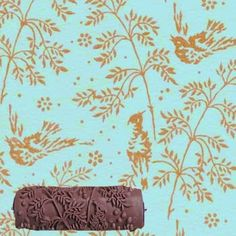 Pattern Paint Roller in Spring Bird Design, from Not Wallpaper patterned wall stencil Wall Stencil Patterns, Bird Patterns, Painting Patterns, Patterned Paint Rollers, Spring Birds, Print Wallpaper, Bird Design, Print Design, Stencils
