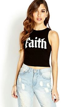 """Faith"" Crop Top"