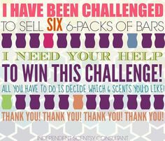 Will you help me reach my goal for this month? Thank you in advance for your support. God bless! www.countrymom.scentsy.ca