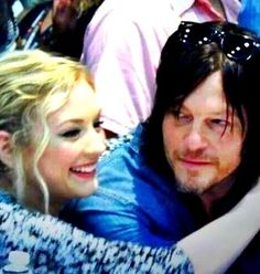 Emily Kinney and Norman Reedus at 2014 SDCC