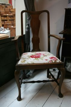 Vintage Oak Dining, Bedroom, Conservatory Chair - Free Carriage
