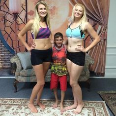 Little Pete and 6ft2 ladies