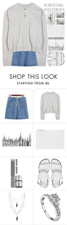 """""""every time a girl calls me cute my lifespan increases by 5 years"""" by alienbabs ❤ liked on Polyvore featuring Acne Studios, Polaroid, Paperchase, Whistles, Faber-Castell, CASSETTE, ASOS, clean, organized and shein"""