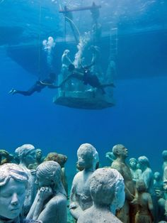 Cancun Underwater Museum | THE Cancun and Isla Mujeres Underwater Art Museum has revealed a ...