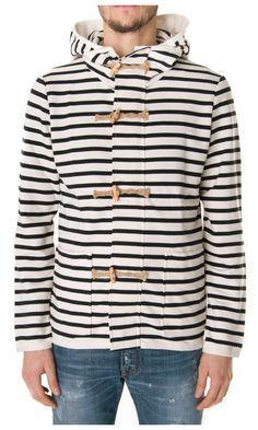 Eleven Paris Black striped sweatshirt - #Menswear  www.sansovinomoda.it