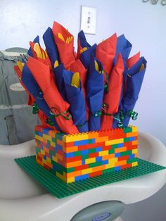 Lego party. Silverware holder.