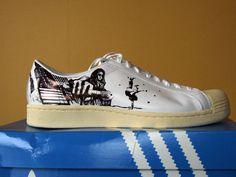 Adidas AKH (IAM) Stan Smith | Noise aka N°15 | Paint | Graphic design | Street art