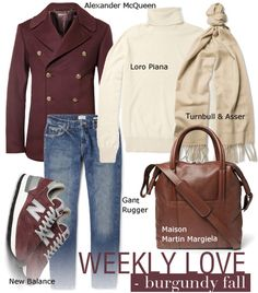 Weekly Love for Men: Burgundy Fall : by Styling Amsterdam
