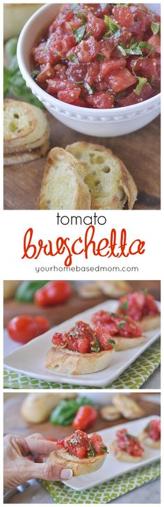 Tomato Bruschetta is a favorite way to use up ripe tomatoes at our house.