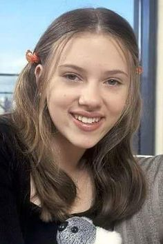 Scarlett Johansson as a teen