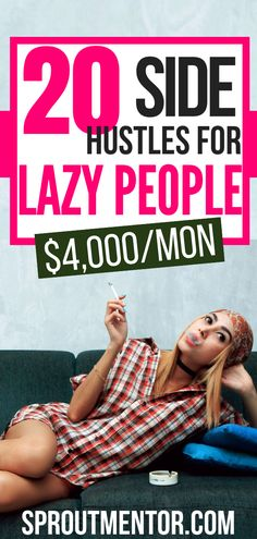 21 Easy Jobs For Lazy People 20 online jobs for lazy people who want to make money online during their spare time. You can even work from home with these side hustles. Marketing Program, Marketing Jobs, Affiliate Marketing, Earn Money From Home, Way To Make Money, Make Money Online, Money Fast, Work From Home Opportunities, Work From Home Tips