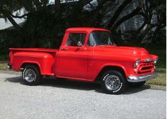 Hot 56 Chevy Pickup...my husband's first work pickup. Wish we would have kept it--sold it for $500.00. :(