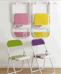 hehe-definitely worth it if i ever come to the point in my life when folding chairs make sense. yay pantone!!