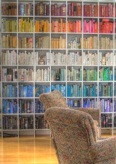 rainbow bookshelf. Beautiful bookshelves