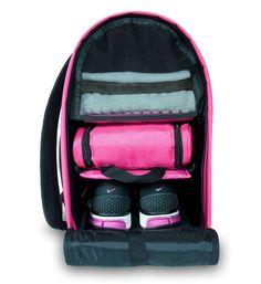 Glo Bag: Ladies Gym Locker Organizer Bag in Hot Pink Glo Cosmetics, Gym Bag Essentials, Gym Backpack, Gym Lockers, Workout Accessories, Fitness Accessories, School Accessories, Gym Gear, Fitness Fashion