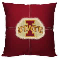 NCAA Northwest Letterman Pillow Iowa State Cyclones