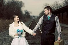 Winter wedding at train depot Sublime Images Bowling Green Ky