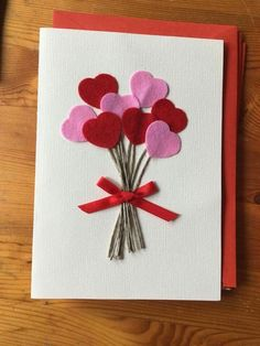 Ideas For Baby Shower Gifts Homemade Valentines Day Homemade Birthday Cards, Homemade Valentines, Homemade Cards, Mothers Day Crafts, Valentine Day Crafts, Cute Cards, Diy Cards, Tarjetas Diy, Birthday Cards For Boyfriend