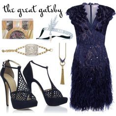 My Great Gatsby-Themed Outfit by leiastyle on Polyvore featuring polyvore, fashion, style, Matthew Williamson, Charlotte Olympia, Lanvin, Lulu Frost, Lady Grey, Tiffany & Co. and lace