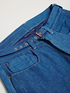 Levi's Red Men's Picker Tapered Dropped Crotch Jeans In Indigo.
