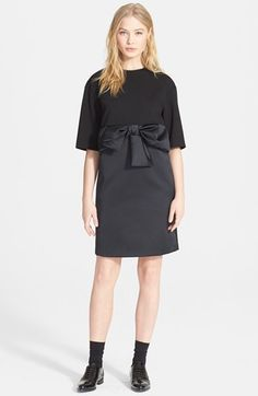 N°21 Bow Front Mix Media Shift Dress available at #Nordstrom