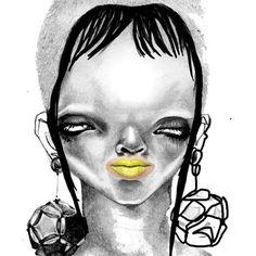 Jowy Maasdamme Art Faces, Face Art, Fashion Figures, Weird Art, Fashion Illustrations, Illustrators, Chibi, Skull, Black And White