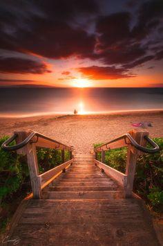 Stairway To Heaven Maui Beach Landskap Fotografi Stairway To Heaven, Beautiful Sunset, Beautiful World, Beautiful Places, Beautiful Gorgeous, Landscape Photography, Nature Photography, Adventure Photography, Amazing Photography