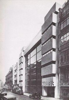 Garage Marbeuf, an automobile showroom built in Paris, Art Nouveau, Garage, Streamline Moderne, Art Deco Home, Exterior Design, Modern Architecture, Dieselpunk, Skyscraper, Multi Story Building