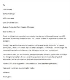 How To Write Business Leave Letter  Resignation Letter