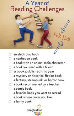 A Year of Reading Challenges FOR KIDS!! updated for any year