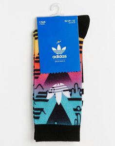 Image 3 of adidas Originals Design Socks In Multi AJ7281