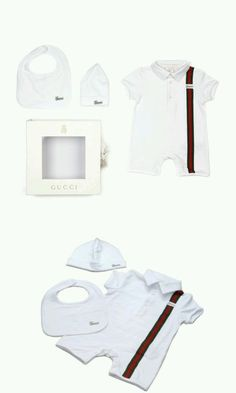fd8d3e91e0f Outfits and Sets 147333  Nwt New Gucci Baby Boys 3Pc Web Romper Bib Hat Gift  Box Set 6 9 9 12 12 18M 2835 -  BUY IT NOW ONLY   199 on eBay!