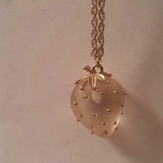 I just discovered this while shopping on Poshmark: Gold Strawberry Necklace. Check it out!  Size: OS