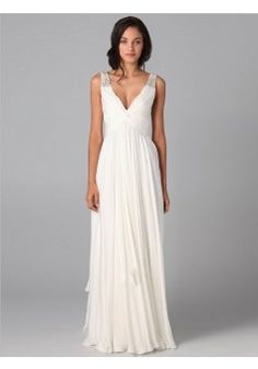 A-line V-neck Floor-length Chiffon White Prom Dresses #AUSA0243360 - See more at: http://www.beckydress.com/prom-dresses.html#sthash.ZYHvXEcZ.dpuf