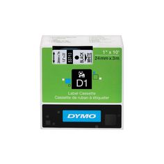 Dymo D1 Standard Tape Cartridge for Dymo Label Makers, 1in x 23ft, Black on White