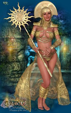 Priestess of the Sun - MAYAN ORACLE 3D Models 3D Figure Essentials renapd