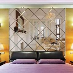 Diamonds Triangles Wall Art Acrylic Mirror Wall Sticker House Decorati – T A Y Online Store
