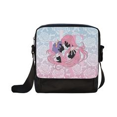 Anime My new artwork. I drew it by pencils and I coloured it by Illustrator CS5. Crossbody Nylon Bags (Model 1633)