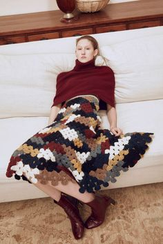 Get inspired and discover Rosetta Getty trunkshow! Shop the latest Rosetta Getty collection at Moda Operandi. Crochet Skirts, Knit Skirt, Crochet Clothes, Moda Crochet, Knit Crochet, Knit Fashion, Fashion Show, Girl Fashion, Fashion Terms
