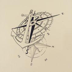 #ancor #ancoratattoo #desenho #designer #rosadosventos #ink #norte #sul #leste #oeste #qualidade #segurança #studiosmacieltattoo