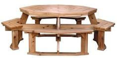 10 free picnic table plans picnic table plans backyard for Octagon coffee table plans